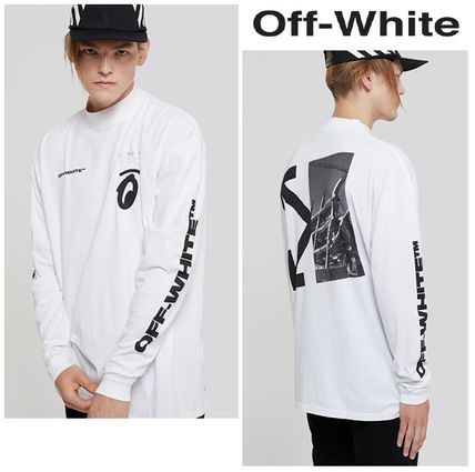 Off-White Long Sleeve Street Style Long Sleeves Logos on the Sleeves