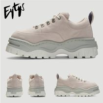 Eytys Platform Rubber Sole Casual Style Unisex Suede Street Style