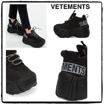 VETEMENTS Rubber Sole Casual Style Street Style Collaboration Plain
