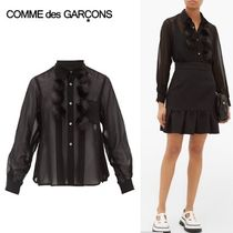 COMME des GARCONS Casual Style Blended Fabrics Long Sleeves Plain Medium