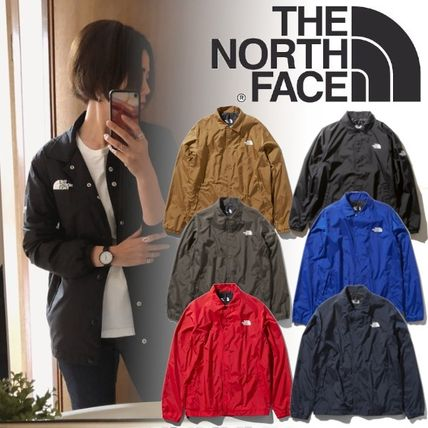 THE NORTH FACE Unisex Nylon Street Style Plain Coach Jackets Logo