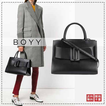 Casual Style Calfskin 2WAY Office Style Elegant Style