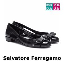 Salvatore Ferragamo Round Toe Rubber Sole Casual Style Blended Fabrics Plain