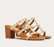 VALENTINO Open Toe Casual Style Blended Fabrics Street Style