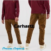 Carhartt Tapered Pants Corduroy Plain Cotton Tapered Pants