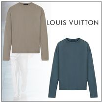 Louis Vuitton Long Sleeves Plain Cotton Long Sleeve T-shirt Logo