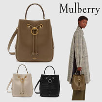Mulberry Casual Style Calfskin Plain Elegant Style Shoulder Bags