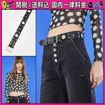 DOLLS KILL Flower Patterns Casual Style Faux Fur Plain Belts