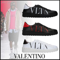 VALENTINO VLTN Studded Street Style Leather Sneakers