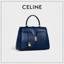 CELINE 16 Casual Style Calfskin 2WAY Party Style Office Style