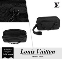 Louis Vuitton TAURILLON Monogram Blended Fabrics Street Style 2WAY Chain Leather