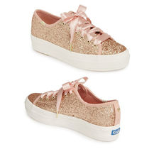 kate spade new york Platform Round Toe Rubber Sole Casual Style Suede
