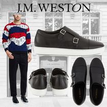 J.M.WESTON Plain Leather Sneakers