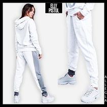 ELLY PISTOL Casual Style Sweat Cotton Long Sweatpants