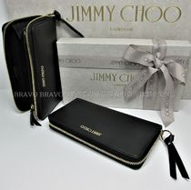 Jimmy Choo Calfskin Leather Long Wallet  Long Wallets
