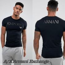 A/X Armani Exchange Crew Neck Plain Short Sleeves Crew Neck T-Shirts