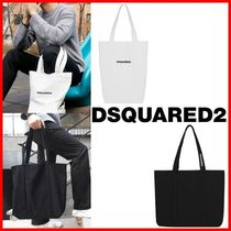 D SQUARED2 Unisex Street Style Plain Totes