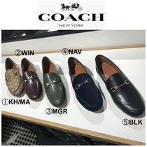 Coach Round Toe Rubber Sole Casual Style Plain Office Style