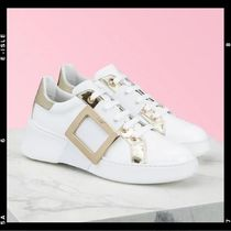 Roger Vivier Rubber Sole Casual Style Leather Elegant Style