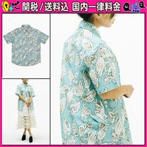 DOLLS KILL Casual Style Cotton Short Sleeves Shirts & Blouses