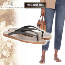 BRUNELLO CUCINELLI Casual Style Street Style Plain Elegant Style Sandals