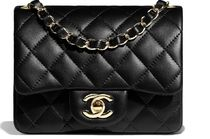 CHANEL Calfskin Chain Plain Leather Party Style Elegant Style