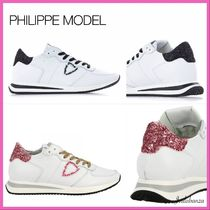 PHILIPPE MODEL PARIS Casual Style Street Style Leather Low-Top Sneakers