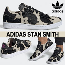 adidas STAN SMITH Casual Style Street Style Other Animal Patterns Logo
