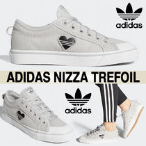adidas Casual Style Blended Fabrics Logo Low-Top Sneakers