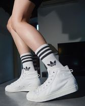 adidas Casual Style Unisex Street Style Logo Low-Top Sneakers