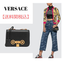VERSACE Casual Style Plain Leather Elegant Style Shoulder Bags