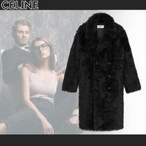 CELINE Plain Long Shearling Coats