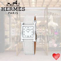 HERMES Casual Style Street Style Leather Party Style Office Style