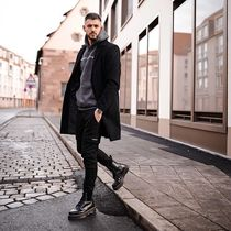 GOOD FOR NOTHING Street Style Plain Long Chester Coats