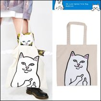 RIPNDIP Casual Style Unisex Street Style A4 Plain Totes