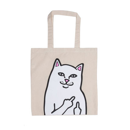 Casual Style Unisex Street Style A4 Plain Logo Totes