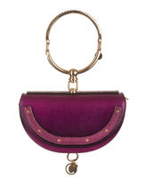 Chloe Nile Casual Style Studded 2WAY Plain Leather With Jewels