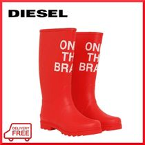 DIESEL Round Toe Rubber Sole Street Style PVC Clothing Logo