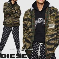 DIESEL Other Check Patterns Camouflage Blended Fabrics Street Style