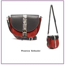 Proenza Schouler Calfskin Suede Studded 2WAY Bi-color Leather Python