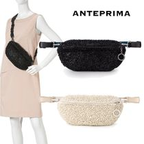 ANTEPRIMA Casual Style Blended Fabrics 2WAY Plain Leather Party Style