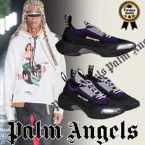 Palm Angels Blended Fabrics Street Style Plain Leather Sneakers