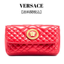 VERSACE Casual Style Leather Party Style Elegant Style Shoulder Bags