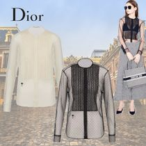 Christian Dior Dots Casual Style Long Sleeves Elegant Style