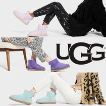 UGG Australia CLASSIC MINI Platform Casual Style Suede Fur Street Style Formal Style