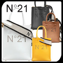 N21 numero ventuno 2WAY Plain Leather Elegant Style Shoulder Bags