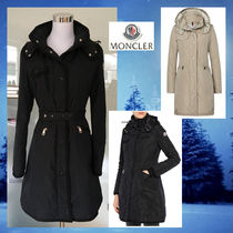 MONCLER Nylon Plain Long Down Jackets