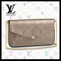 Louis Vuitton Calfskin Bag in Bag 3WAY Chain Leather Party Style