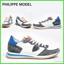 PHILIPPE MODEL PARIS Street Style Leather Sneakers