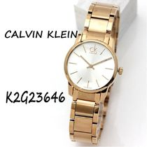 Calvin Klein Casual Style Round Quartz Watches Stainless Office Style